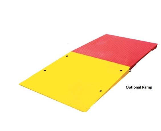 HEAVY CAPACITY LOW-PROFILE FLOOR SCALE RAMPS AND BUMP GUARDS